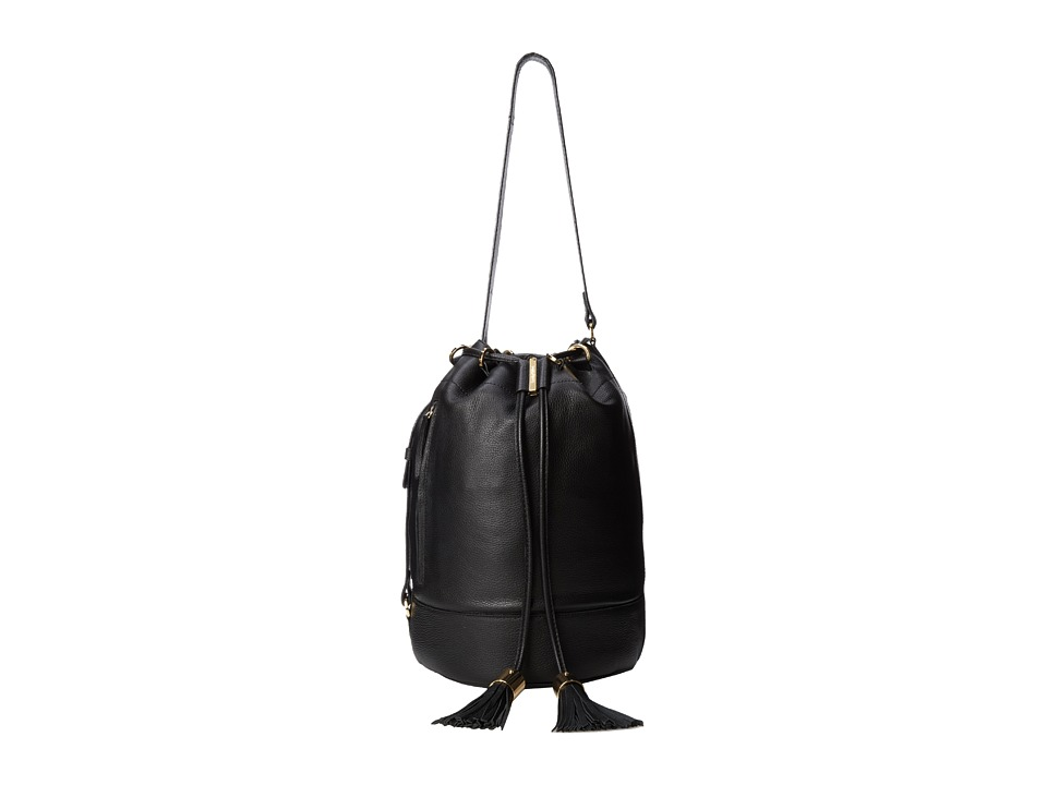 See by Chloe - Vicki Large Bucket With Crossbody Strap (Black) Shoulder Handbags