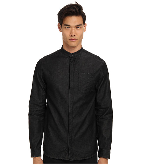 Pierre Balmain - Mandarin Collar Shirt (Black) Men