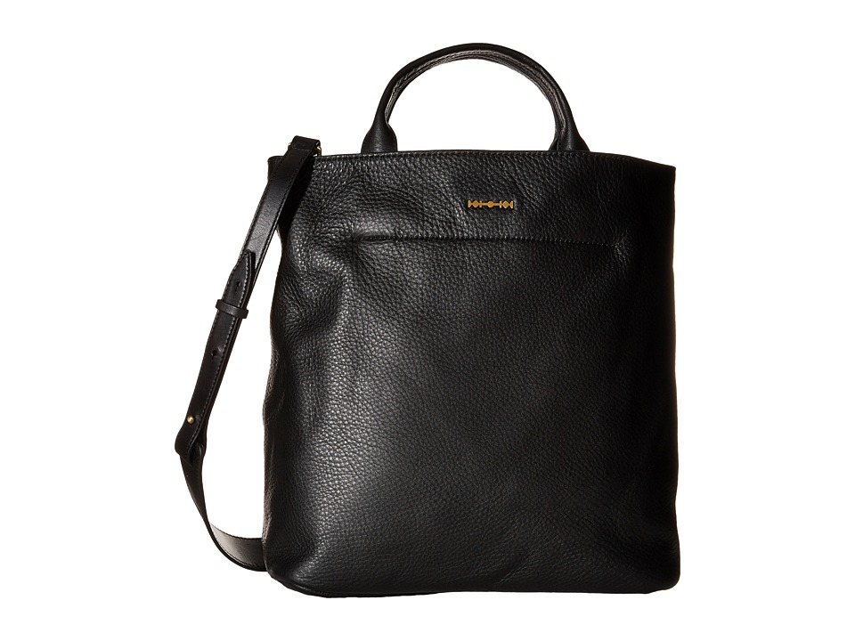 McQ - Top Handle Bag (Black Grainy Leather) Tote Handbags
