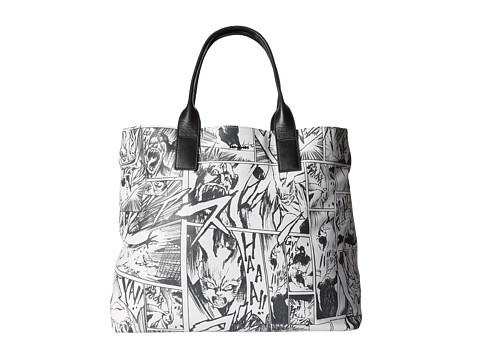 McQ - East West Tote (White Manga Printed Nappa So) Tote Handbags