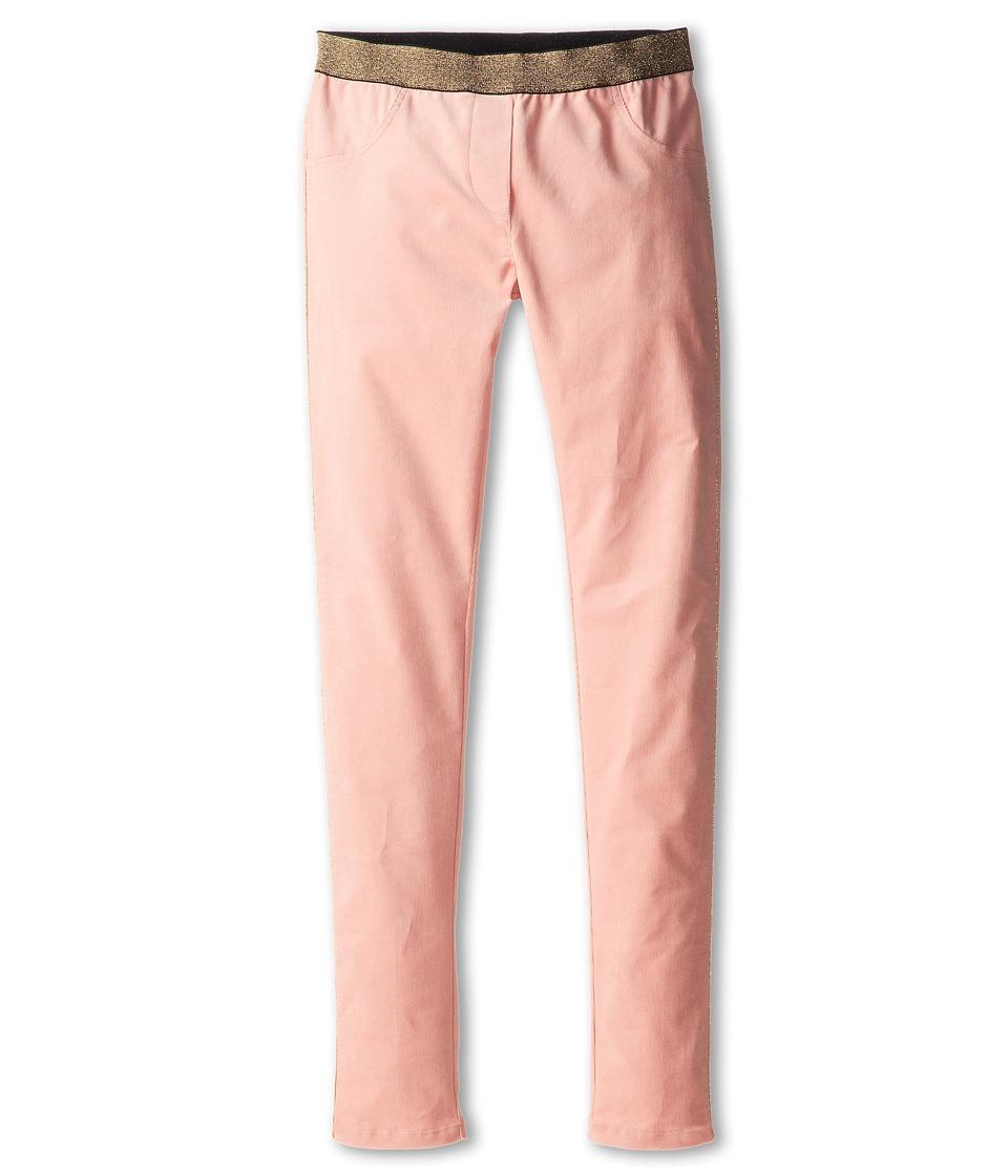 Little Marc Jacobs - Corduroy Pant w/ Gold Elastic Waist (Big Kids) (Dusty Pink) Girl's Casual Pants