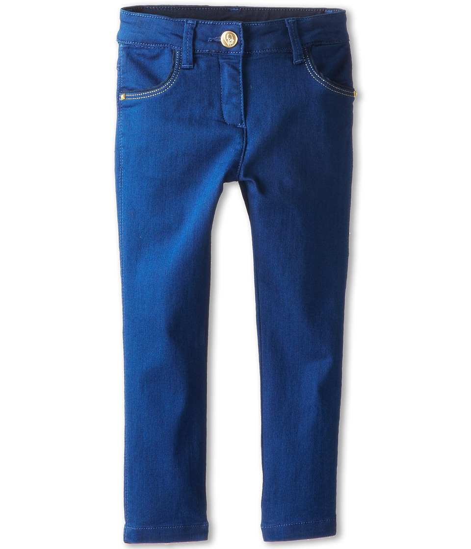 Little Marc Jacobs - Slim Fit Stretch Denim Pants (Toddler/Little Kids) (Denim Blue) Girl's Casual Pants