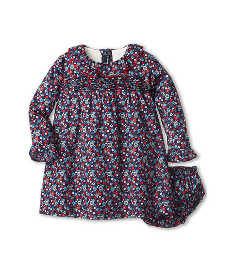 Oscar de la Renta Childrenswear - Colares Cotton Tunic Dress (Infant) (Navy) Girl's Active Sets