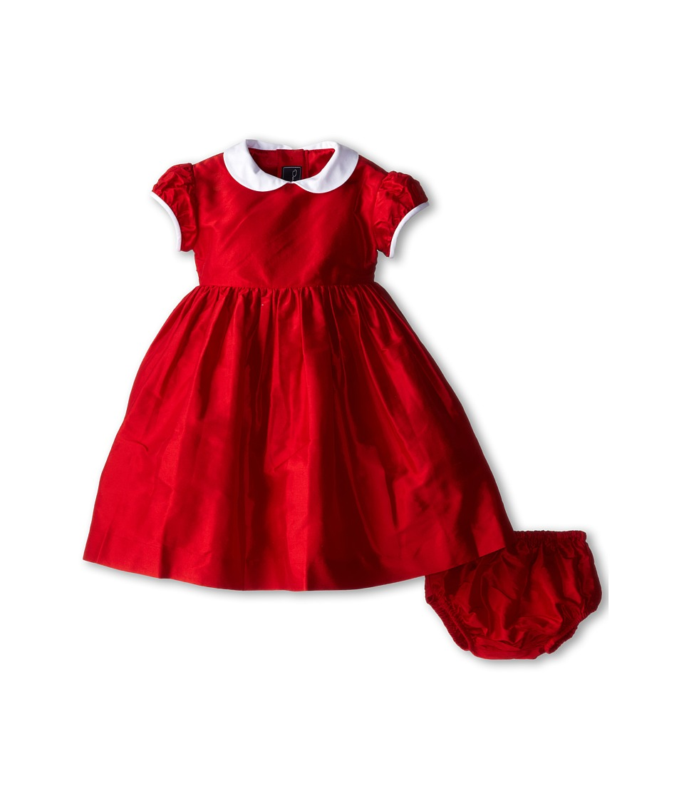 Oscar de la Renta Childrenswear - Taffeta Party Dress (Infant) (Crimson) Girl's Dress