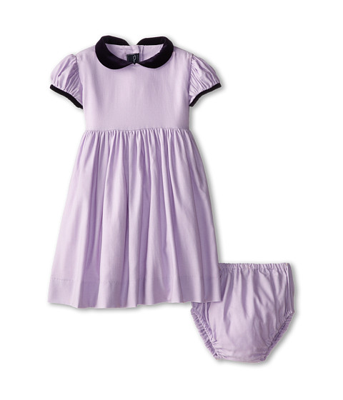 Oscar de la Renta Childrenswear - Cotton Gathered Sleeve (Infant) (Lilac) Girl's Clothing