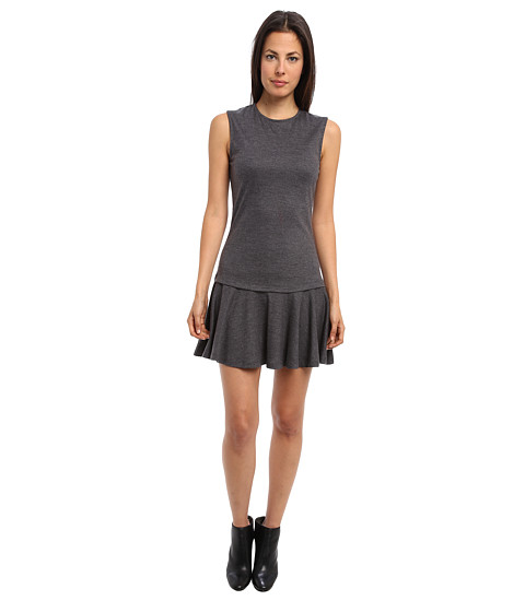 McQ - Tailored Wool Je Polo Neck Dress (Dark Grey Melange) Women's Dress
