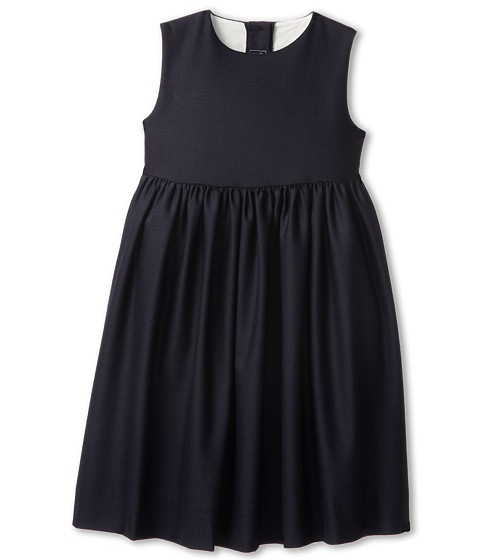Oscar de la Renta Childrenswear - Wool Pinafore Dress (Toddler/Little Kids/Big Kids) (Navy) Girl