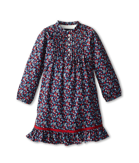 Oscar de la Renta Childrenswear - Colares Cotton Tunic Dress (Toddler/Little Kids/Big Kids) (Navy Multi) Girl's Dress