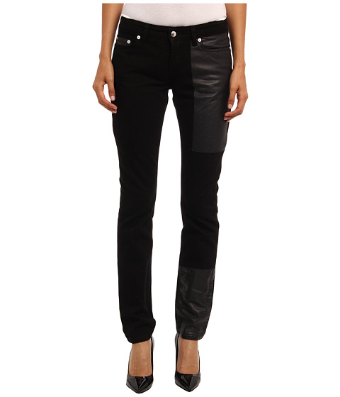 McQ - Denim With Hybrid Low Wa (Black) Women's Casual Pants