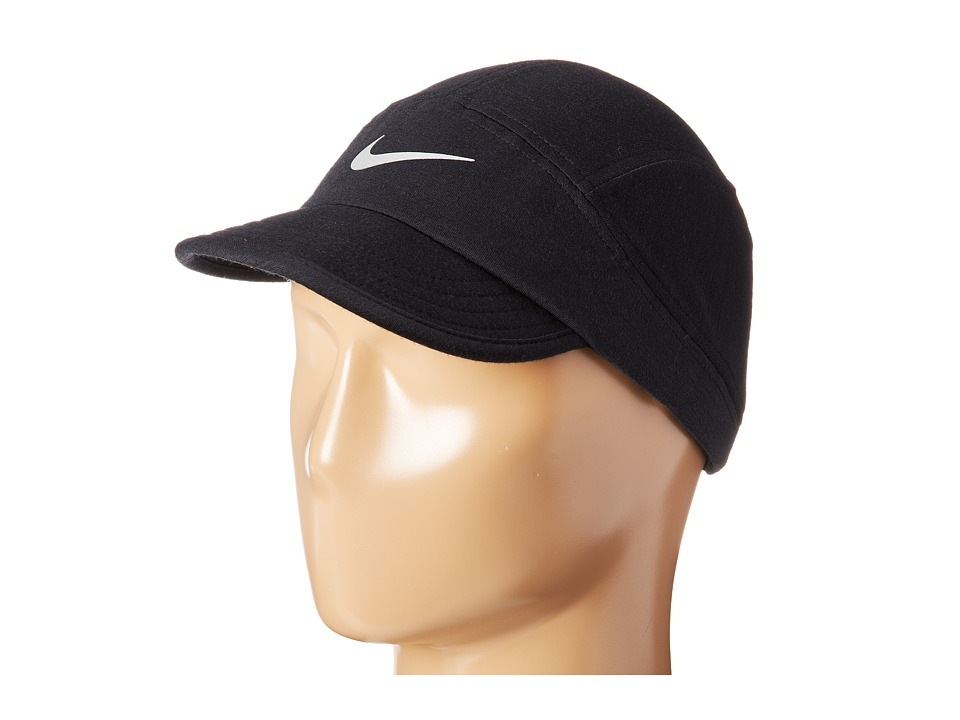 Nike - Wool Tailwind Cap (Black/Black/Anthracite/Reflective Silver) Baseball Caps