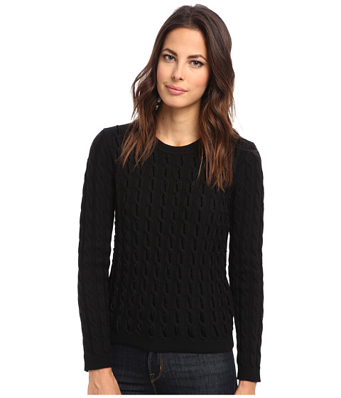 RED VALENTINO - Top HRA903A3 (Black) Women's Long Sleeve Pullover