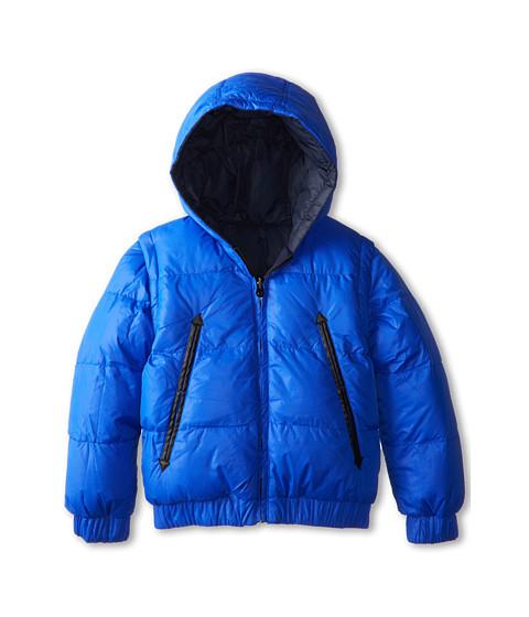 Little Marc Jacobs - Reversible Puffer Jacket Removable Sleeves (Little Kids/Big Kids) (Bordeaux BL) Boy