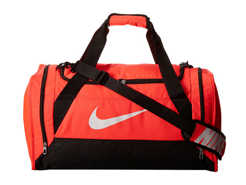 Nike - Brasilia 6 Medium Duffel (Hyper Punch/Black/(White)) Duffel Bags