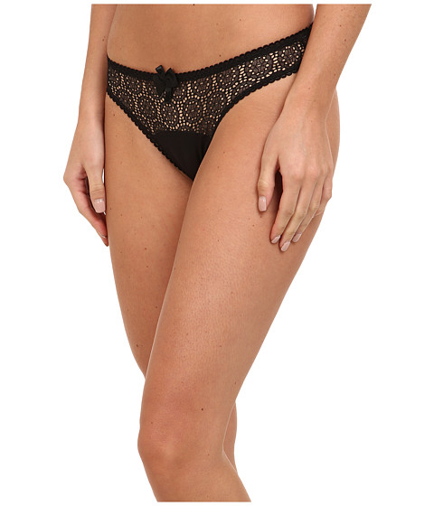 Stella McCartney - Clementina Twinkling Thong (Black/Camel) Women's Underwear