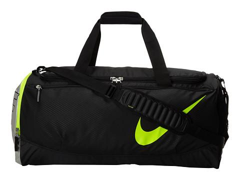 Nike - Court Tech Duffle (Black/Metallic Silver/Volt) Duffel Bags