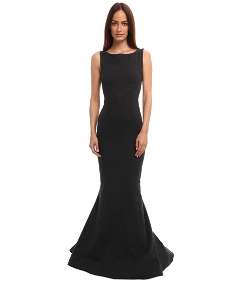 Zac Posen - 40-8008-44 (Smokey Black) Women's Dress