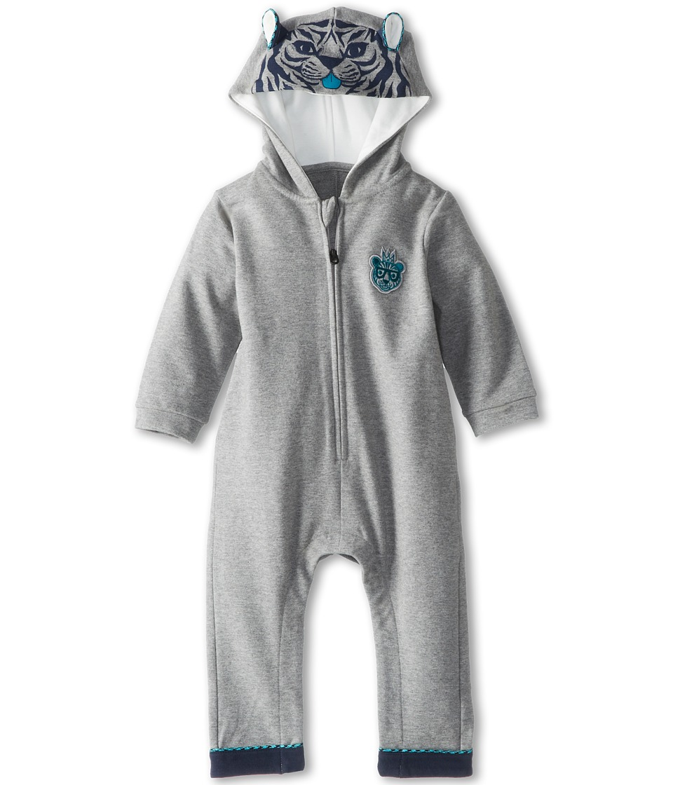 Little Marc Jacobs - Tiger Hood And Ears Combi (Infant) (Grey Chine) Boy's Jumpsuit & Rompers One Piece