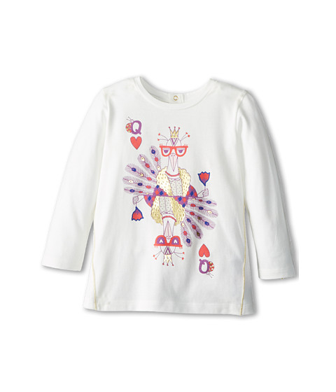 Little Marc Jacobs - L/S Printed Tee Shirt (Infant) (Off White) Girl's Long Sleeve Pullover