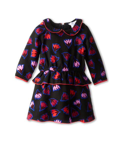 Little Marc Jacobs - Inspired Print L/S Woven Dress (Infant) (Marine Rose) Girl