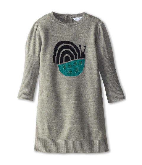 Little Marc Jacobs - Knitted Snail Dress (Infant) (Grey Chine) Girl's Dress