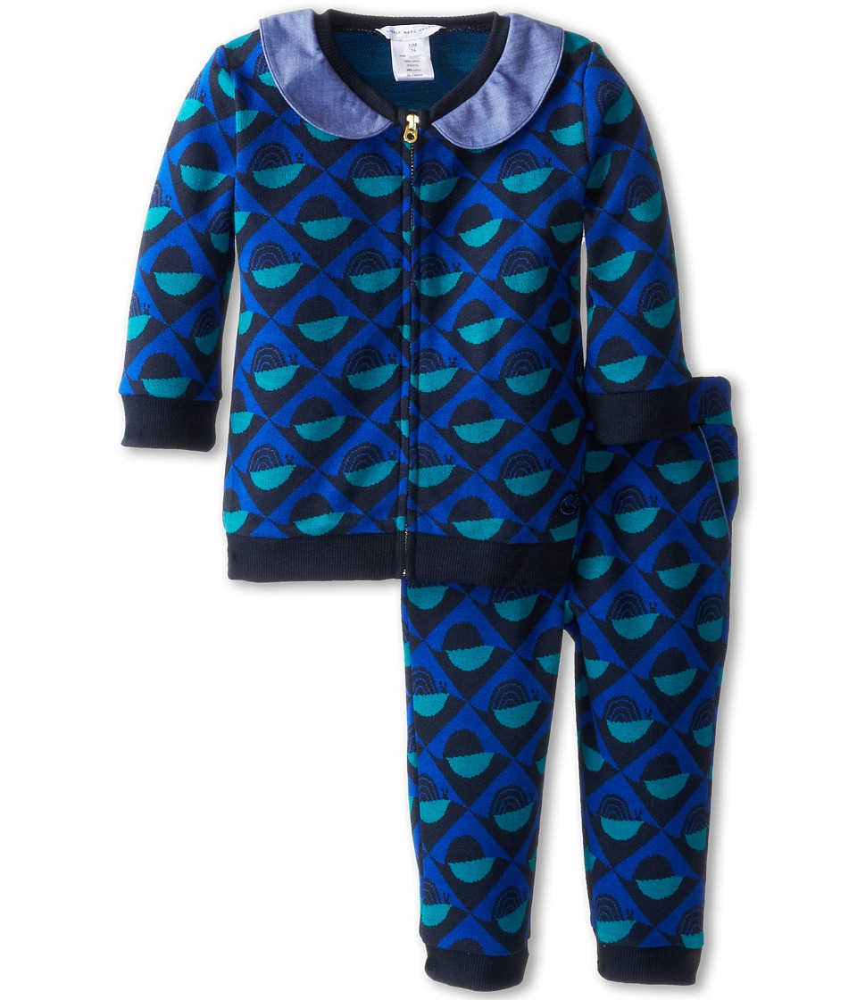 Little Marc Jacobs - Print Knit 2 PC Jogging Set (Infant) (Unique) Girl's Active Sets