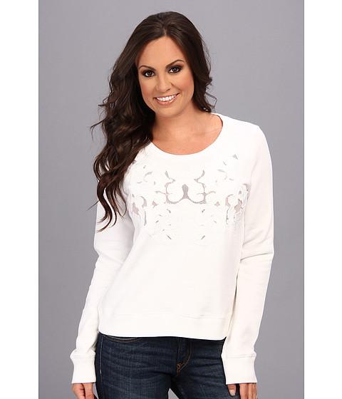 Lucky Brand - Mesh Inset Top (White) Women's Sweatshirt