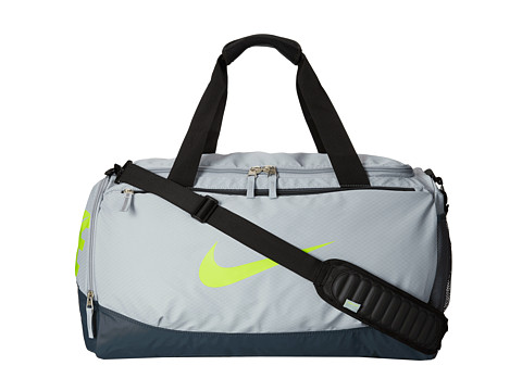 Nike - Team Training Max Air Medium Duffel (Light Magnet Grey/Dark Magnet Grey/(Volt)) Duffel Bags