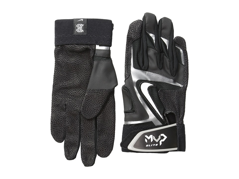Nike - Mvp Elite (Black/Black/Silver/(Pewter Grey)) Athletic Sports Equipment