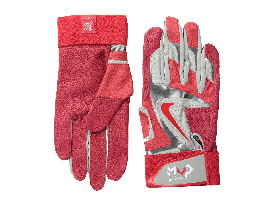 Nike - Mvp Elite (Pewter Grey/University Red/White/(University Red)) Athletic Sports Equipment