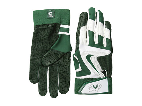 Nike - Mvp Elite (White/Gorge Green/Pewter Grey/(Gorge Green)) Athletic Sports Equipment