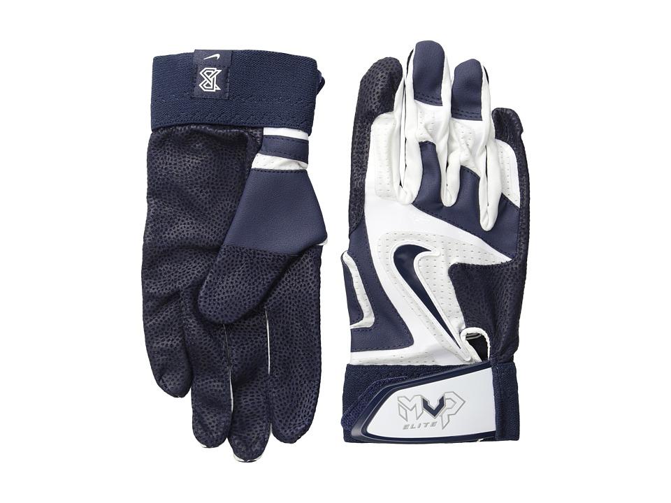 Nike - Mvp Elite (White/College Navy/Pewter Grey/(College Navy)) Athletic Sports Equipment
