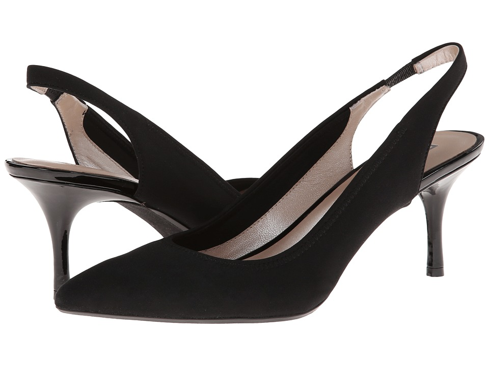 DKNY - Lucille Sling Back (Black Stretch Crepe) High Heels