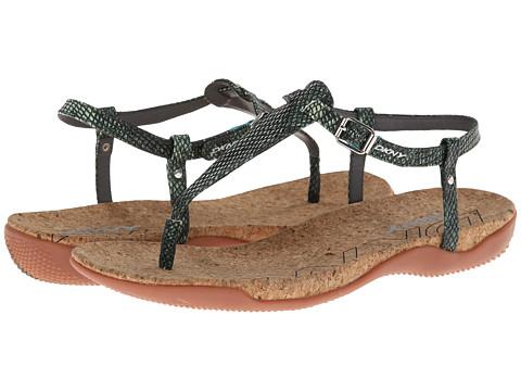 DKNY - Sabrina (Teal/Multi Printed Snake) Women's Sandals