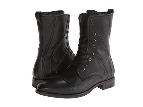John Varvatos - Fleetwood Lace Boot (Jet Black) Men