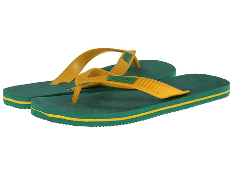 Volley Australia - Double Plug (Green/Yellow) Men's Sandals