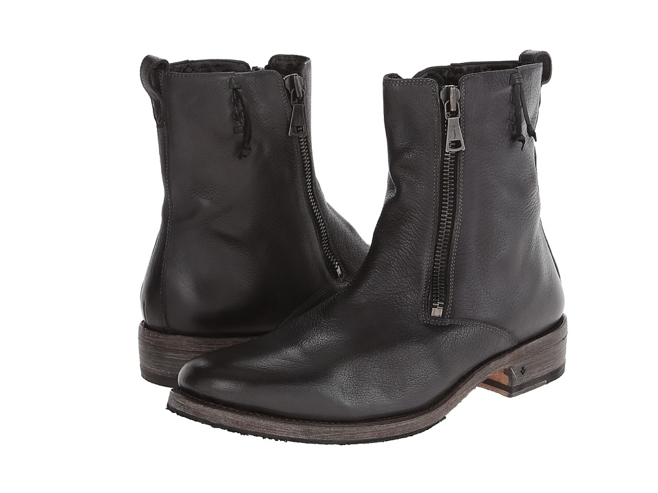 John Varvatos - Parisian Double Zip Boot (Lead) Men