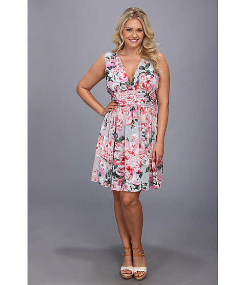 BB Dakota - Plus Size Gelsey Dress (Pink) Women
