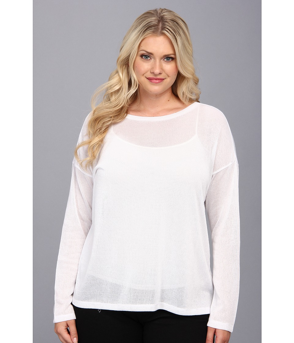 BB Dakota - Plus Size Kamala Top (Optic White) Women's Sweater