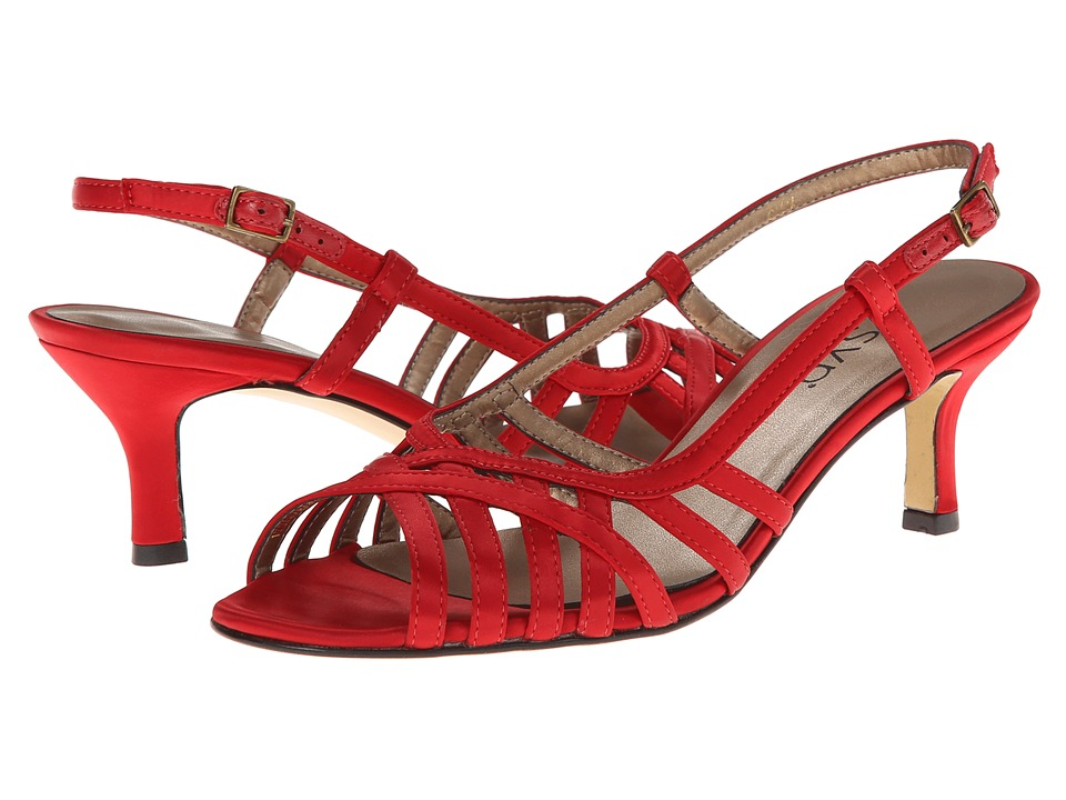 rsvp - Martha (Red Satin) High Heels