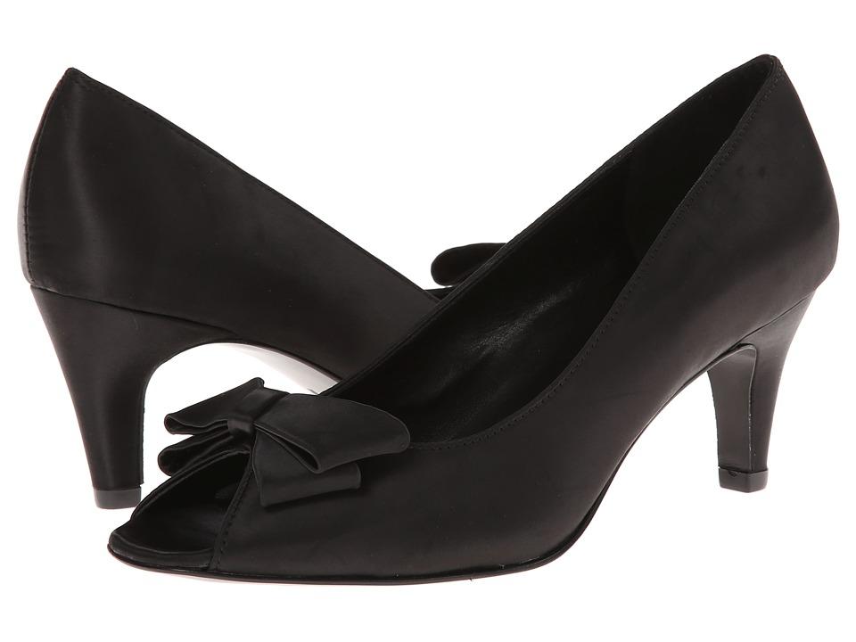 rsvp - Medora (Black Satin) High Heels
