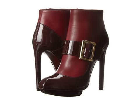 Alexander McQueen - Dolly Bootie (Ox Red) Women's Zip Boots