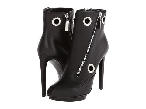 Alexander McQueen - Biker Eyelet Bootie (Black) Women's Boots