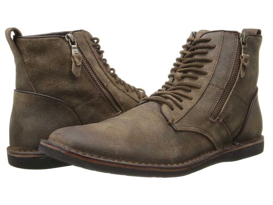 John Varvatos - Barrett Side Zip Boot (Brown) Men