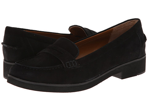 LAUREN by Ralph Lauren - Lisette (Black Kid Suede) Women's Slip on Shoes