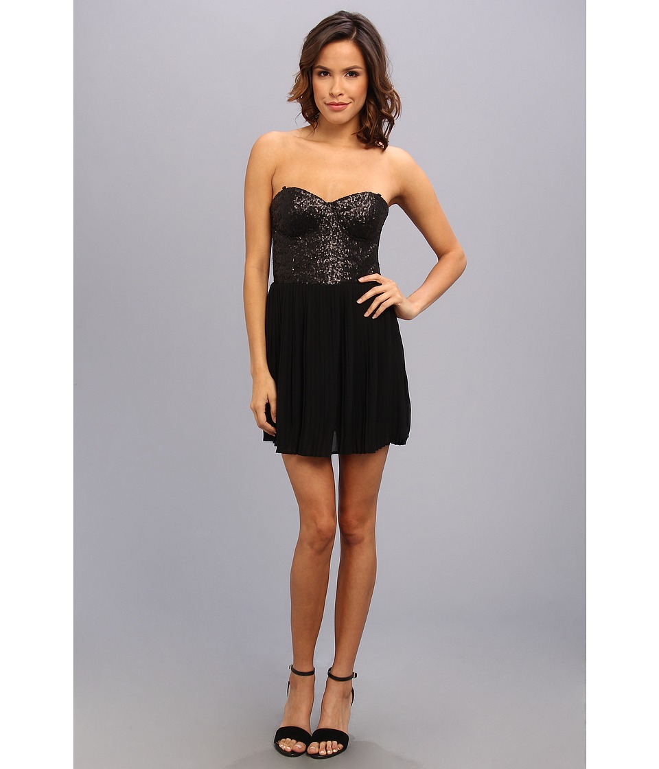 MINKPINK - The Shining Sequin Dress (Black/Black) Women's Dress