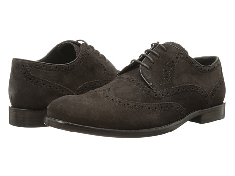 John Varvatos - Sid Heritage Wingtip (Coffee) Men's Lace Up Wing Tip Shoes