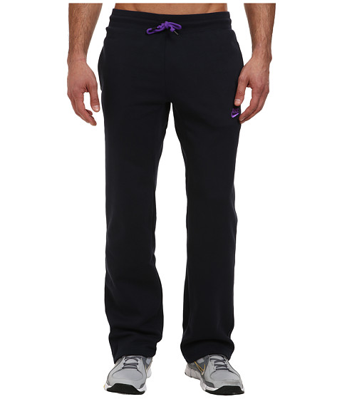 Nike - Ace Open-Hem Fleece Pants (Dark Obsidian/Hyper Grape) Men
