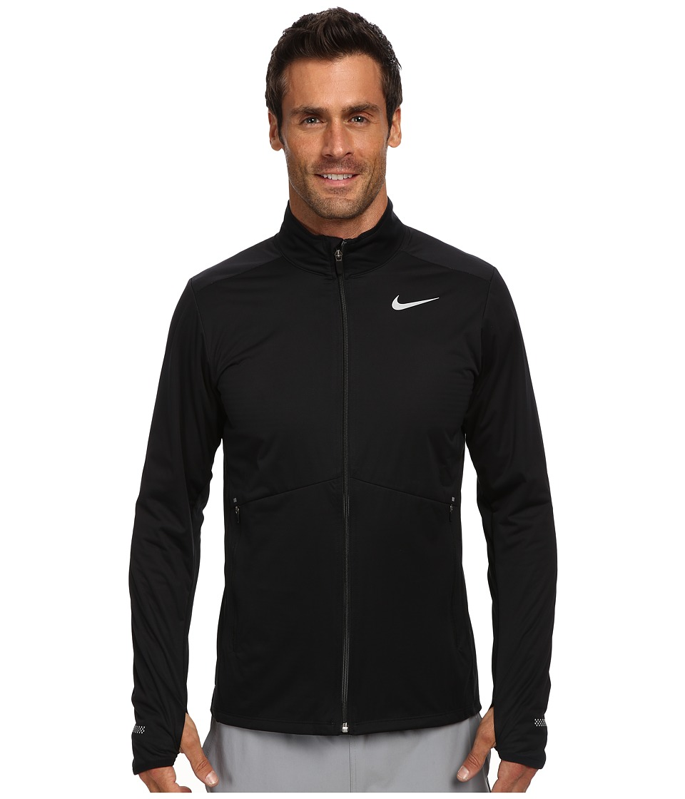 Nike - Element Shield Full Zip (Black/Black/Reflective Silver) Men