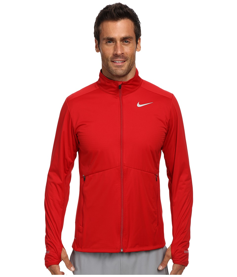 Nike - Element Shield Full Zip (Hyper Crimson/Dark Ash/Reflective Silver) Men's Sweatshirt