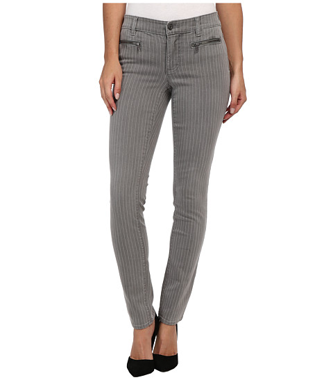 TWO by Vince Camuto - Pinstripe Front Zip Pocket Skinny Jeans in Cinder (Cinder) Women